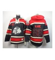 Chicago Blackhawks #88 Kane red-black[pullover hooded sweatshirt][the skeleton head]