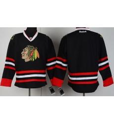 Chicago Blackhawks Blank Black NHL Jerseys