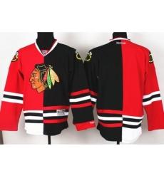 Chicago Blackhawks Blank Black Red Split NHL Jerseys