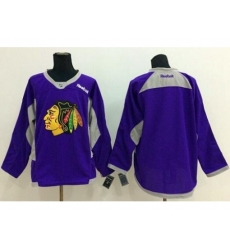 Chicago Blackhawks Blank Purple Hockey Fights Cancer Stitched NHL Jersey