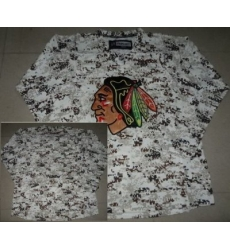 Chicago Blackhawks Blank White Camo NHL Jerseys