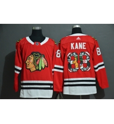 Men Chicago Blackhawks 88 Patrick Kane Red Fashion Adidas Jersey