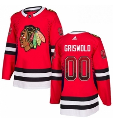 Mens Adidas Chicago Blackhawks 00 Clark Griswold Authentic Red Drift Fashion NHL Jersey