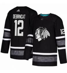 Men's Adidas Chicago Blackhawks #12 Alex DeBrincat Black 2019 All-Star Game Parley Authentic Stitched NHL Jersey