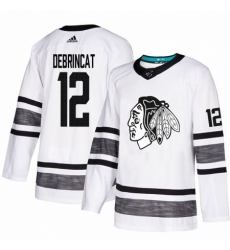 Men's Adidas Chicago Blackhawks #12 Alex DeBrincat White 2019 All-Star Game Parley Authentic Stitched NHL Jersey
