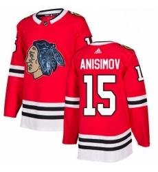 Mens Adidas Chicago Blackhawks 15 Artem Anisimov Authentic Red Fashion Gold NHL Jersey
