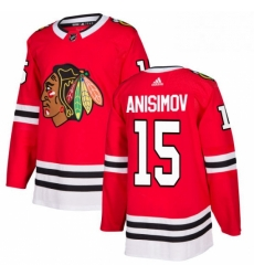 Mens Adidas Chicago Blackhawks 15 Artem Anisimov Authentic Red Home NHL Jersey
