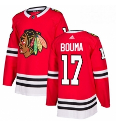 Mens Adidas Chicago Blackhawks 17 Lance Bouma Premier Red Home NHL Jersey