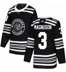 Mens Adidas Chicago Blackhawks 3 Keith Magnuson Authentic Black 2019 Winter Classic NHL Jersey