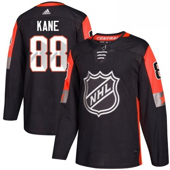 Mens Adidas Chicago Blackhawks 88 Patrick Kane Authentic Black 2018 All Star Central Division NHL Jersey