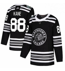 Mens Adidas Chicago Blackhawks 88 Patrick Kane Authentic Black 2019 Winter Classic NHL Jersey