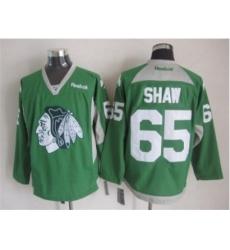 NHL Chicago Blackhawks 65 Andrew Shaw green jerseys