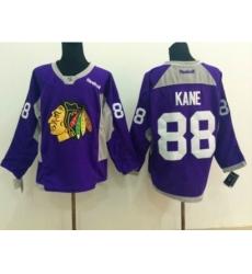 NHL Chicago Blackhawks #88 Patrick Kane Stitched purple jerseys