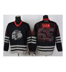 NHL Jerseys Chicago Blackhawks #65 Shaw black ice[the skeleton head]