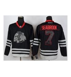 NHL Jerseys Chicago Blackhawks #7 Seabrook black ice[the skeleton head]