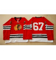 NHL Mitchell And Ness 1960-61 Chicago Blackhawks #67 Noname red Throwback jerseys