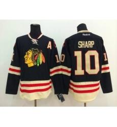 NHL chicago blackhawks #10 Patrick Sharp black jerseys(2015 new classic)