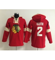 NHL chicago blackhawks #2 keith red jerseys[pullover hooded sweatshirt]