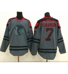 NHL chicago blackhawks #7 Brent Seabrook Charcoal Cross Check Jerseys