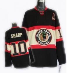 RBK Chicago Blackhawks New Third jersey #10 PATRICK SHARP black