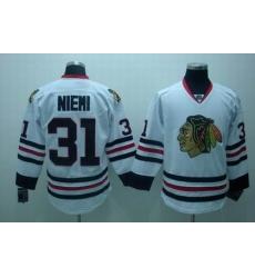 chicago blackhawks #31 antti niemi white jersey