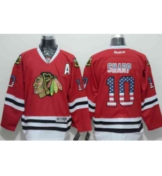 nhl jerseys chicago blackhawks #10 sharp red[national flag version][patch A]