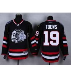 nhl jerseys chicago blackhawks #19 toews black-1[2014 Stadium Series][the skeleton head]