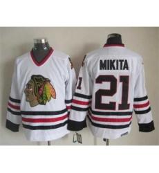 nhl jerseys chicago blackhawks 21 mikita white