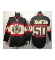 nhl jerseys chicago blackhawks #50 crawford black third edition