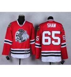 nhl jerseys chicago blackhawks #65 shaw red-1[the skeleton head]