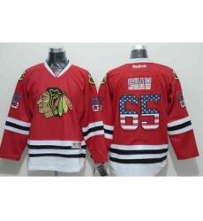 nhl jerseys chicago blackhawks #65 shaw red[national flag version]