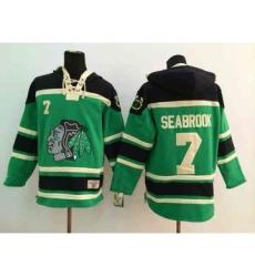 nhl jerseys chicago blackhawks #7 seabrook green[pullover hooded sweatshirt]