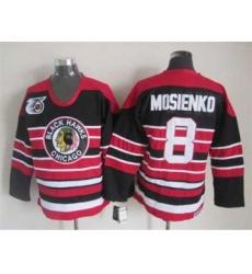 nhl jerseys chicago blackhawks 8 mosienko black-red[75th]