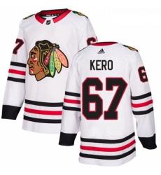 Womens Adidas Chicago Blackhawks 67 Tanner Kero Authentic White Away NHL Jersey