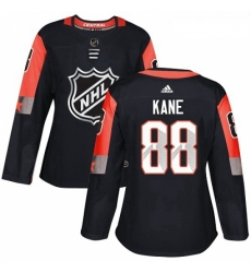Womens Adidas Chicago Blackhawks 88 Patrick Kane Authentic Black 2018 All Star Central Division NHL Jersey