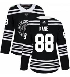 Womens Adidas Chicago Blackhawks 88 Patrick Kane Authentic Black 2019 Winter Classic NHL Jersey