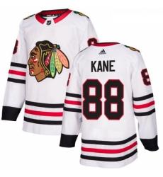 Womens Adidas Chicago Blackhawks 88 Patrick Kane Authentic White Away NHL Jersey