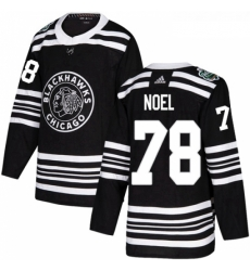 Youth Adidas Chicago Blackhawks 78 Nathan Noel Authentic Black 2019 Winter Classic NHL Jersey