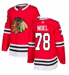 Youth Adidas Chicago Blackhawks 78 Nathan Noel Authentic Red Home NHL Jersey