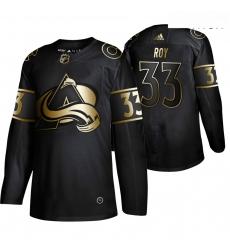 Avalanche 33 Patrick Roy Black Gold Adidas Jersey