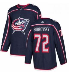 Mens Adidas Columbus Blue Jackets 72 Sergei Bobrovsky Authentic Navy Blue Home NHL Jersey
