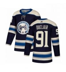Mens Adidas Columbus Blue Jackets 91 Anthony Duclair Premier Navy Blue Alternate NHL Jersey