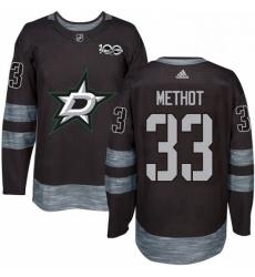 Mens Adidas Dallas Stars 33 Marc Methot Authentic Black 1917 2017 100th Anniversary NHL Jersey