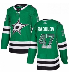 Mens Adidas Dallas Stars 47 Alexander Radulov Authentic Green Drift Fashion NHL Jersey