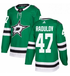 Mens Adidas Dallas Stars 47 Alexander Radulov Authentic Green Home NHL Jersey