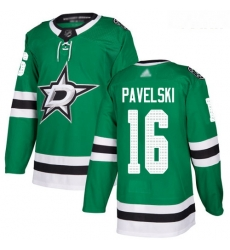 Stars #16 Joe Pavelski Green Home Authentic Youth Stitched Hockey Jersey