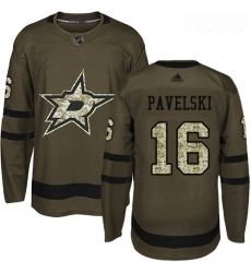 Stars #16 Joe Pavelski Green Salute to Service Youth Stitched Hockey Jersey