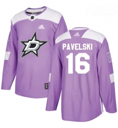 Stars #16 Joe Pavelski Purple Authentic Fights Cancer Youth Stitched Hockey Jersey