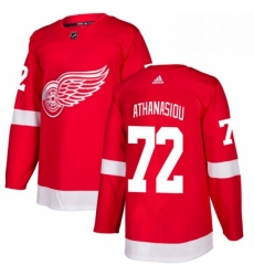 Mens Adidas Detroit Red Wings 72 Andreas Athanasiou Authentic Red Home NHL Jersey