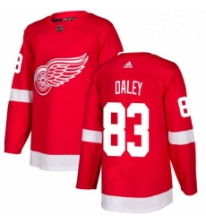 Mens Adidas Detroit Red Wings 83 Trevor Daley Authentic Red Home NHL Jersey
